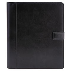 Textured Notepad Holder, 8 1/2 x 11, Leather-Like, Black