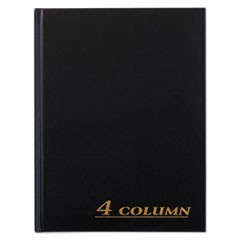 Account Book, 4 Column, Black Cover, 80 Pages, 7 x 9 1/4