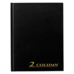 Account Book, 2 Column, Black Cover, 80 Pages, 7 x 9 1/4