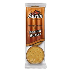 Toasty Crackers w/Peanut Butter, 6-Piece Snack Pack, 45 Packs/Box