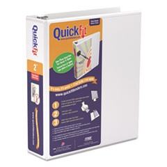 "QuickFit D-Ring View Binder, 2"" Capacity, 8 1/2 x 11, White"