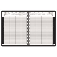 Eight-Person Group Daily Appointment Book, 8 1/2 x 11, White, 2017