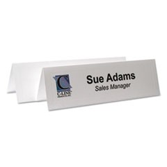 Embossed Tent Cards, White, 8 1/2 x 2 1/2, 2 Card/Sheet, 50 Sheets/Box