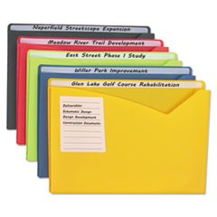 "Write-On Expanding Poly File Folders, 1"" Exp., Letter, Assorted Colors, 25/BX"