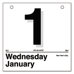 """Today Is"" Daily Wall Calendar Refill, 6 x 6, White, 2018"