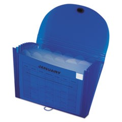Specialty Expanding Files, Letter, 13-Pocket, Blue