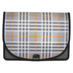 "Expanding File, Plaid, Letter, 1 Pocket, 3.5"" Exp. 1/EA"