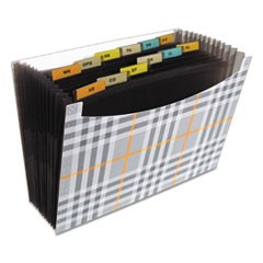 "13-Pocket Expanding File, 9"" Exp, Letter, Plaid"