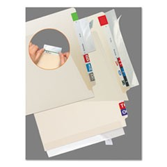 Self-Adhesive Label/File Folder Protector, Strip, 2 x 11, Clear, 100/Pack