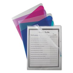 Project Folders With Dividers, Letter, 1/3 Tab, Clear/Clear 25/PK