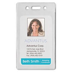 Proximity ID Badge Holder, Vertical, 2 3/8w x 3 3/8h, Clear, 50/Pack