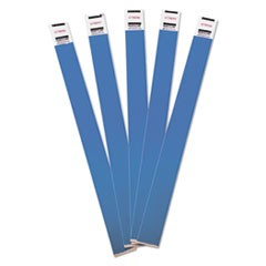 Crowd Management Wristbands, Sequentially Numbered, 10 x 3/4, Blue, 100/Pack
