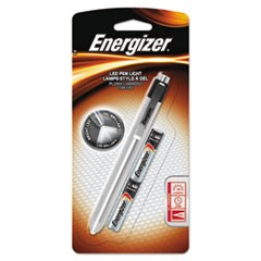 Aluminum Pen LED Flashlight, 2 AAA, Black