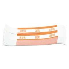 Currency Straps, Orange, $50 in Dollar Bills, 1000 Bands/Pack