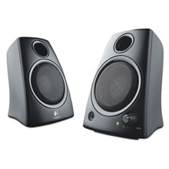 Z130 Compact 2.0 Stereo Speakers, 3.5mm Jack, Black