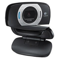 C615 HD Webcam, 1080p, Black/Silver