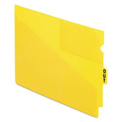 "End Tab Poly Out Guides, Center ""OUT"" Tab, Letter, Yellow, 50/Box"