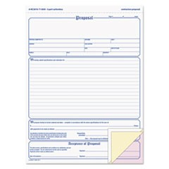 Proposal Form, 8-1/2 x 11, Three-Part Carbonless, 50 Forms