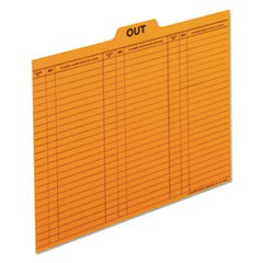Out/Substitution Guides, 1/5 Top Tab, 11 pt Stock, Letter, Salmon, 100/Box