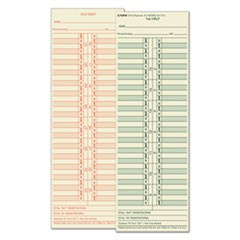 Time Card for Cincinnati/Lathem/Simplex/Acroprint, Semi-Monthly, 500/Box