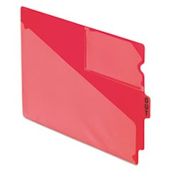 "End Tab Poly Out Guides, Center ""OUT"" Tab, Letter, Red, 50/Box"