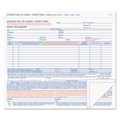 Hazardous Material Short Form, 7 x 8 1/2, Three-Part Carbonless, 50 Forms