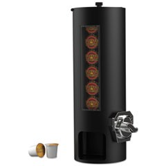 Coin Operated Coffee Pod Dispenser, 9 1/4 x 7 1/8 x 21 1/8, Black