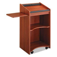 Executive Mobile Lectern, 25-1/4w x 19-3/4d x 46h, Cherry