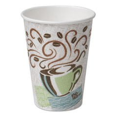 Hot Cups, Paper, 16oz, Coffee Dreams Design, 500/Carton
