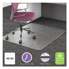 UltraMat All Day Use Chair Mat for High Pile Carpet, 45 x 53, Clear