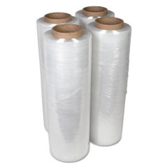 "Handwrap Stretch Film, 18"" x 2000ft Roll, 15 mic (60-Gauge), 4/Carton"