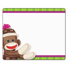 Terrific Labels, 2 1/2 x 3, Sock Monkeys, 36/Pack