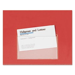 HOLD IT Poly Business Card Pocket, Top Load, 3 3/4 x 2 3/8, Clear, 10/Pack