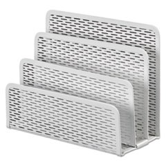 Urban Collection Punched Metal Letter Sorter, 6 1/2 x 3 1/4 x 5 1/2, White