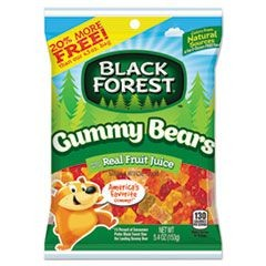 Gummy Bears, Assorted, 5.4 oz Bag, 12/Carton