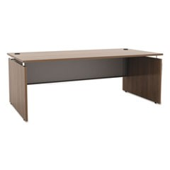Alera Sedina Series Straight Front Desk Shell, 72w x 36d x 29.5h, Modern Walnut