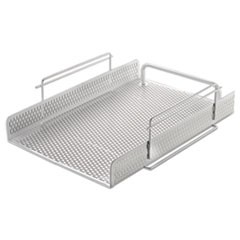 Urban Collection Punched Metal Letter Tray, White
