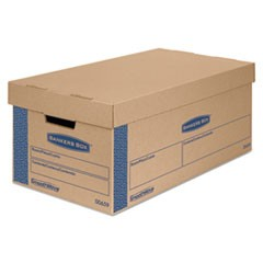 SmoothMove Prime Small Moving Boxes, Lift Lid, 24l x 12w x 10h, Kraft/Blue, 8/CT