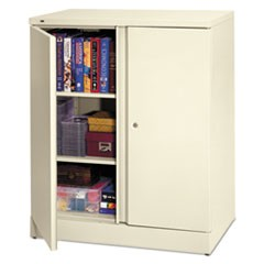 Easy-to-Assemble Storage Cabinet, 36w x 18d x 42-3/4h, Light Gray