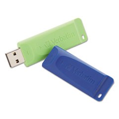 Store 'n' Go USB 2.0 Flash Drive, 32GB, Blue/Green, 2 Pack