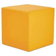 Alera WE Series Collaboration Seating, Cube Bench, 18 x 18 x 18, Saffron