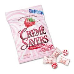 Strawberry Cr�me Savers Hard Candy, 6oz Pack
