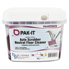 Auto-Scrubber Neutral Floor Cleaner, Citrus Scent, 50 PAK-ITs/Tub