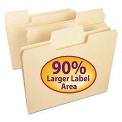 SuperTab File Folders, 1/3 Cut Top Tab, Letter, Manila, 24/Pack