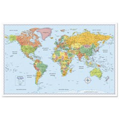 M-Series Full-Color World Map, 50 x 32