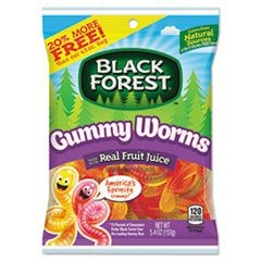 Candy Gummies, Gummy Worms, Original Assortment, 5.4 oz Bag, 12/Carton