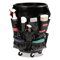 Brute Caddy Bag, 12 Pockets, Black, 6/Carton