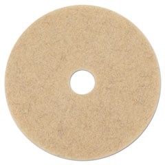 "Ultra High-Speed Low Burnish Floor Pads, 17"" Diameter, Champagne, 5/Carton"