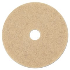 "Ultra High-Speed Natural Hair Extra Floor Pads, 17"" Diameter, Tan, 5/Carton"