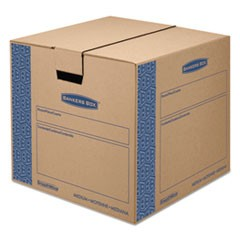 SmoothMove Prime Medium Moving Boxes, 18l x 18w x 16h, Kraft/Blue, 8/Carton